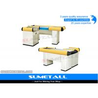 Wholesale Steel Body Supermarket Cashier Counter , Retail Cash Register Counters from china suppliers