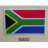 Wholesale South Africa Flag Embroidery Iron On Patch Merrow Border from china suppliers