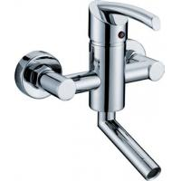 Wholesale Nickle Chrome Plating Two Hole Bathroom Faucet Household Ceramic Cartridge from china suppliers