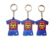 Wholesale Silicone Milan Football Shirt Key Chain promotion item sevenstargifts KT110 from china suppliers