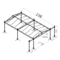Quality Silver Alloy Aluminum Stage Truss / Metal Roof Trusses For Lighting for sale