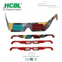 Wholesale Custom Paper Anaglyph 3D Glasses With Full Color Logo For 3D Theater from china suppliers