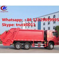 Wholesale 2016 new sinotruk howo brand 20ton compactor garbage truck for sale, hot sale best price howo 6x4 garbage truck for sale from china suppliers