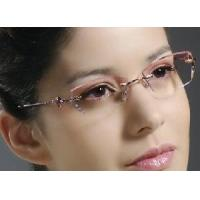 Wholesale Woman′s Shining Crystal Rimless Eyewear from china suppliers