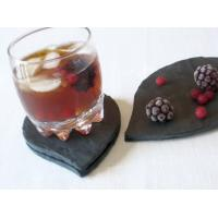 Buy cheap black slate round angle cup mat / cutting edge stone cup pad from wholesalers