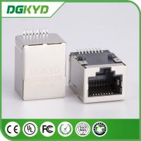 Wholesale Shielded 10/100 Base 8P8C SMT RJ45 PCB Connector Intergrated Magnetics from china suppliers