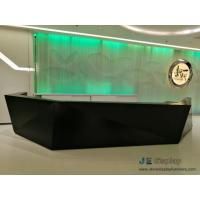 Wholesale Commerical Office buliding Geometric Round Reception counters made by China factory with Storage drawer and Stone table from china suppliers