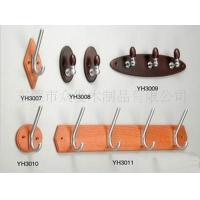 Wholesale Portable Wooden Wall Clothes Rack , Pine / Poplar Wall Coat Hooks 300 X 40 X 10 mm from china suppliers