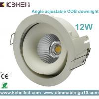 Wholesale 12W COB LED Downlight with 90mm cut out and Angle Adjustable external driver from china suppliers