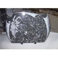 Wholesale Heart Shape Granite Headstones For Graves , Engraved Memorial Stones Flower Pigeon Pattern from china suppliers