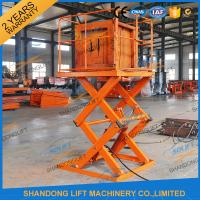 Buy cheap Small Electric Type Portable Hydraulic Fixed Mechanical Scissor Lift 1T - 30T Load Capacity from wholesalers