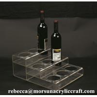 Wholesale Customized Tabletop Fashionable Clear Acrylic Wine Bottle Display Holder from china suppliers