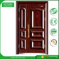 Wholesale SONCAP Approved Stainless Security Steel Main Door Monther and Son Metal Door Leaf Popular for Nigeria Market from china suppliers