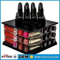 Wholesale New Arrival factory custom black rotating acrylic lipstick holder from china suppliers