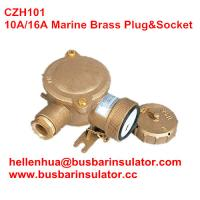Wholesale 10A/16A marine brass plug&socket CZH101 waterproof socket handware in bulk from china suppliers