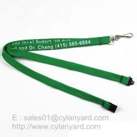 Wholesale Inexpensive Tube lanyard with Swivel J hook, printed polyester tube lanyards from china suppliers