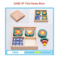 Wholesale pre school professional froebel gifts wooden educational toys froebel GABE 5P Circle from china suppliers