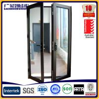 Quality aluminium glass double sashes swing and hinged doors for sale