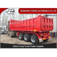 Wholesale 60 Ton Heavy Duty Dump Semi Trailer 2/3 Axle For Sand Stone Bulk Transport from china suppliers