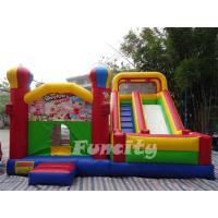 Wholesale Durable Large Inflatable Combo Bouncers / Bouncy Playhouse With Digital Printing from china suppliers