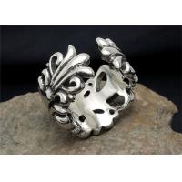 Wholesale Adjustable Bohemian Custom Engraved Stainless Steel Rings With Flower Shaped from china suppliers
