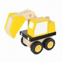 Wholesale Master Builder Excavator Wooden Toy Car, Suitable for Preschool Kids from china suppliers
