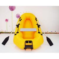 Wholesale Yellow PVC Inflatable Fishing Boats with paddles , fishing holder motor and seatting board from china suppliers