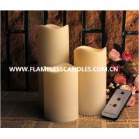 Buy cheap Battery Operated Outdoor Resin Candles Set, With Wavy Edge from wholesalers