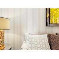 Wholesale Beige Stripe Non Woven Contemporary Wall Coverings for Living Room from china suppliers