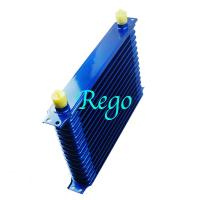 Wholesale Stacked Plate Universal Transmission Oil Cooler Kit Heavy Duty Blue Color from china suppliers