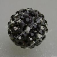 Quality Good Quality Black Diamond Clay Shamballa Pave Beads for sale
