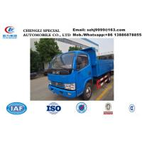 Wholesale Factory selling bottom price 3tons dongfeng 4*2 LHD garbage dump truck, 2017s best price 3tons China dump garbage truck from china suppliers