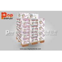 Wholesale Portable Pet Food Corrugated Cardboard Pallet Display , Floor Shipper Display Box from china suppliers