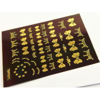 Wholesale Gold plating Nail Art Decals Easy DIY Size 63 * 52mm from china suppliers