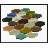 Wholesale Hexagon Glass Mosaic Decor Spell Mirror colorful glass wall sticker from china suppliers
