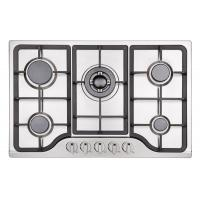 Wholesale Stainless Steel LPG Gas Hob Auto Ignition , 5 Burner Gas Cooktop Cast Iron Pan Support from china suppliers