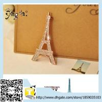 Wholesale Wholesale Fashion Custom Classic  Crystal Rhinestone Eiffel Tower Crystal Brooch from china suppliers