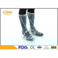 Wholesale Transparent Disposable Shoe Covers With Elastic Cuff For Boot Slip Resistant from china suppliers