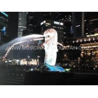 Wholesale Lion Head  Water Shooting Sculpture Water Fountains For Park Or Garden from china suppliers