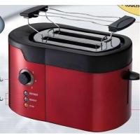 Quality 800W 50 or 60 hz Red electric two Slice  bread pop up Toaster Ovens for sale
