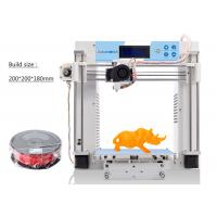 Wholesale High Precision DIY 3D Printers With ABS / PLA / TPU Materials , 2mm Thickness from china suppliers