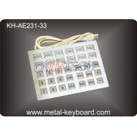 Wholesale Custom Industrial Kiosk Stainless Steel Keyboard with 33 Keys from china suppliers