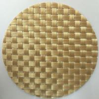 Wholesale light golden Textilene® Solar Screens & cushions chair Fabric 8*8 PVC woven mesh fabric from china suppliers