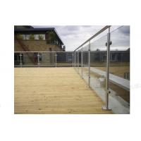 Wholesale outdoor decking s.s304 stainless steel glass railings with post from china suppliers