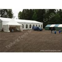 Wholesale Hard Anodized Aluminium Frame Tents , White waterproof party tents PVC Fabric Cover from china suppliers