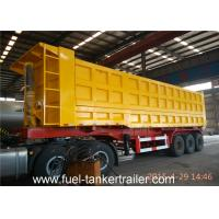Wholesale Hydraulic Self Discharge Side Dump Semi Trailer Truck for loading sand coal stone from china suppliers