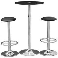 Wholesale Black Hotel Modern Glass Bar Table Steel Legs Round High Top Table from china suppliers