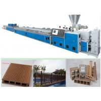 Wholesale Wood Plastic Composite Machine With Spring Feeder , WPC Extrusion Machine from china suppliers