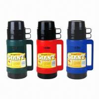 Wholesale Vacuum Flasks, Keeps Liquid Hot/Cold in Hours, with Plastic Body, Glass-liner  from china suppliers