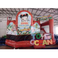 Wholesale Red 0.55mm PVC Inflatable Bouncer Combo Doll House Inflatable Bouncy Castle from china suppliers
